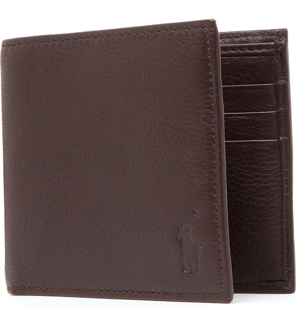 POLO RALPH LAUREN Pony-embossed Pebbled Leather Wallet