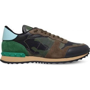 VALENTINO Full Leather Camo Trainers