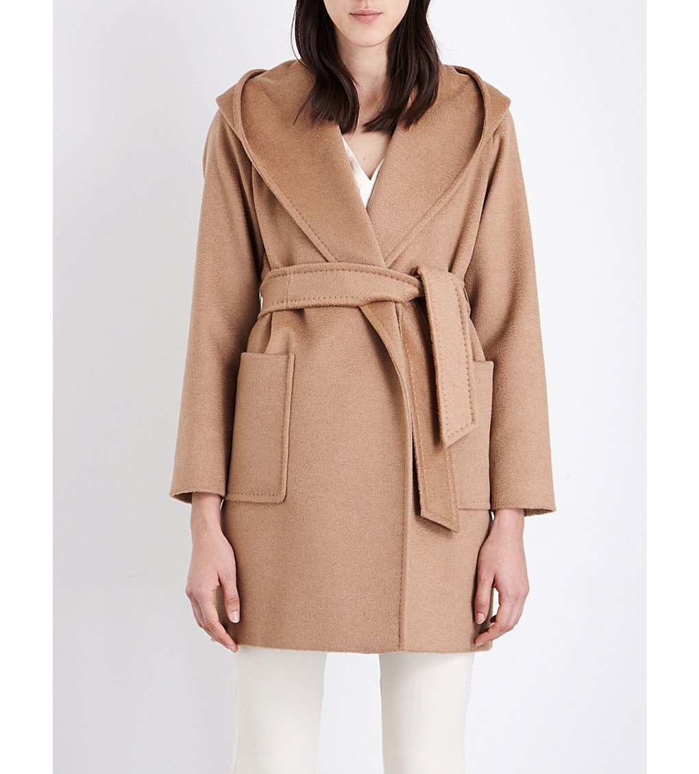 c04e3503b7b MAX MARA Rialto hooded camel hair coat