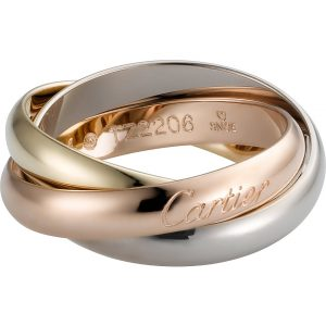 CARTIER Trinity De Cartier 18ct White-gold, Yellow-gold And Pink-gold Medium Ring