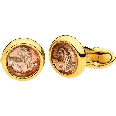 BVLGARI Monete Antiche 18kt Yellow-gold Cufflinks With Antique Coins