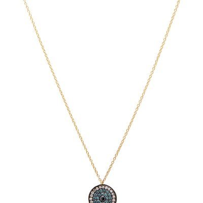 ANNOUSHKA Love Diamonds 18ct Yellow-gold And Diamond Evil Eye Pendant Necklace