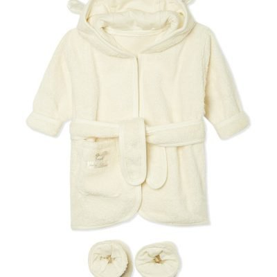NATURES PUREST Pure Love Bathrobe & Slippers Set 0-6 Months