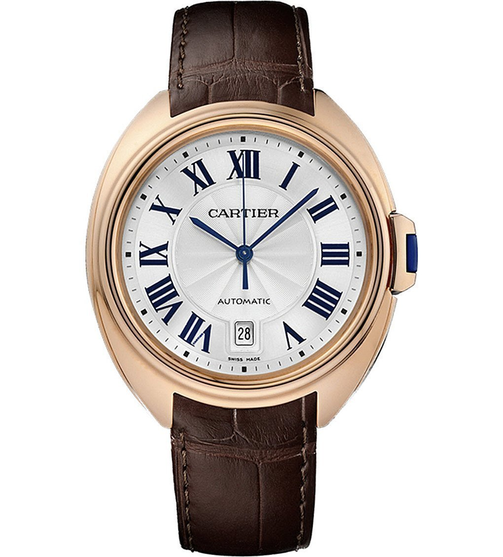CARTIER Clé De Cartier 40mm 18ct Rose-gold And Leather Watch