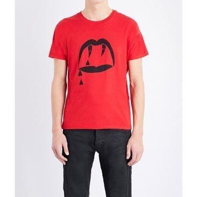 SAINT LAURENT Blood Luster Cotton-jersey T-shirt