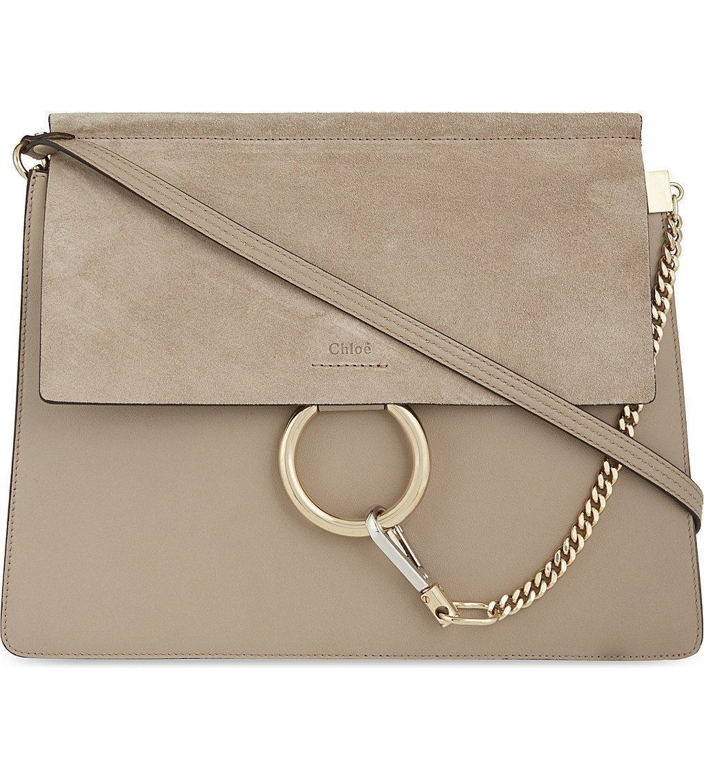 CHLOE Faye Leather & Suede Cross-body Bag