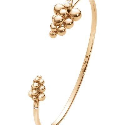 GEORG JENSEN Moonlight Grapes 18ct Rose-gold And Diamond Bangle
