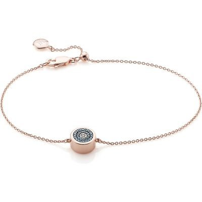 MONICA VINADER Linear 18ct Rose Gold-plated And Pavé Diamond Toggle Bracelet