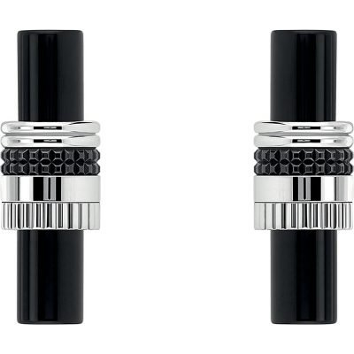 BOUCHERON Quatre Black Edition 18ct White-gold And Onyx Wedding Cufflinks