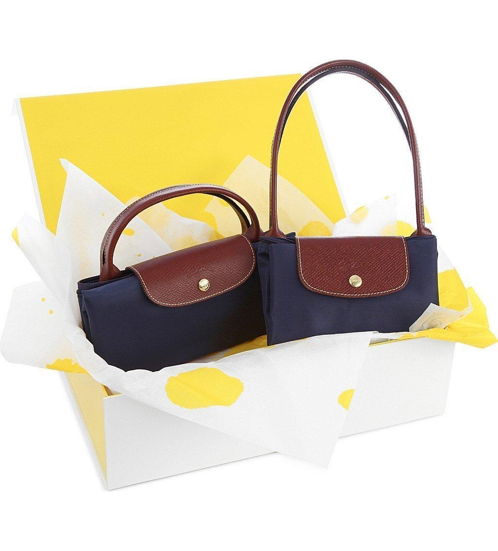 LONGCHAMP Le Pliage Large Travel Bag And Small Shopper Gift Set