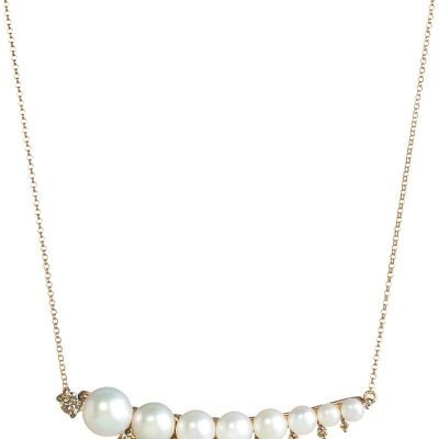 ANNOUSHKA Diamonds & Pearls 18ct Rose-gold Necklace