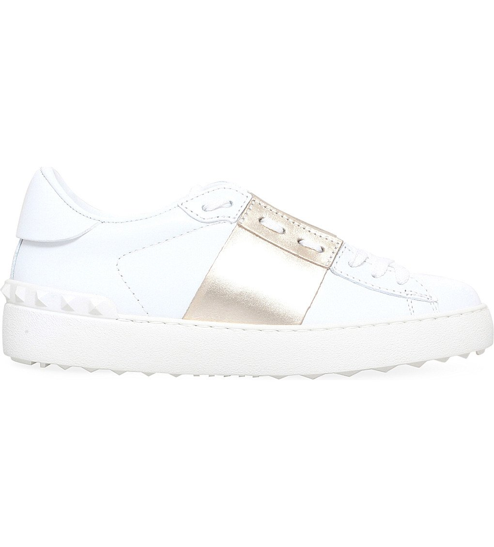 VALENTINO Open Leather Trainers