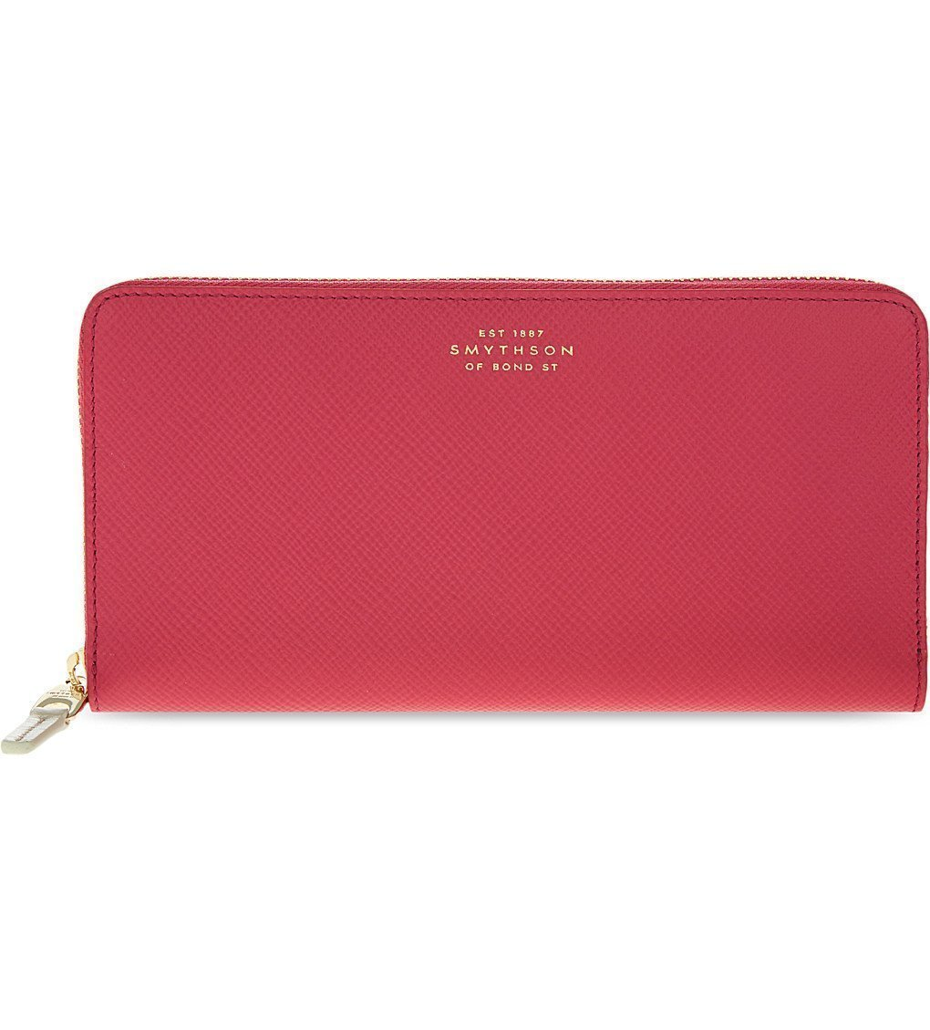 SMYTHSON Panama Large Slim Leather Purse