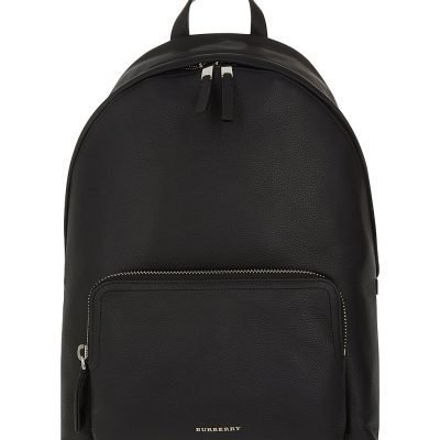 BURBERRY Abbeydale London Grained Leather Backpack