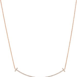 TIFFANY & CO Tiffany T Smile Pendant In 18k Rose-gold With Diamonds