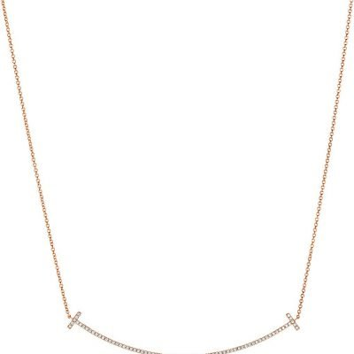 TIFFANY & CO Tiffany T Smile Pendant In 18k Rose-gold With Diamonds