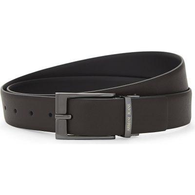 ARMANI JEANS Reversible Saffiano Leather Belt