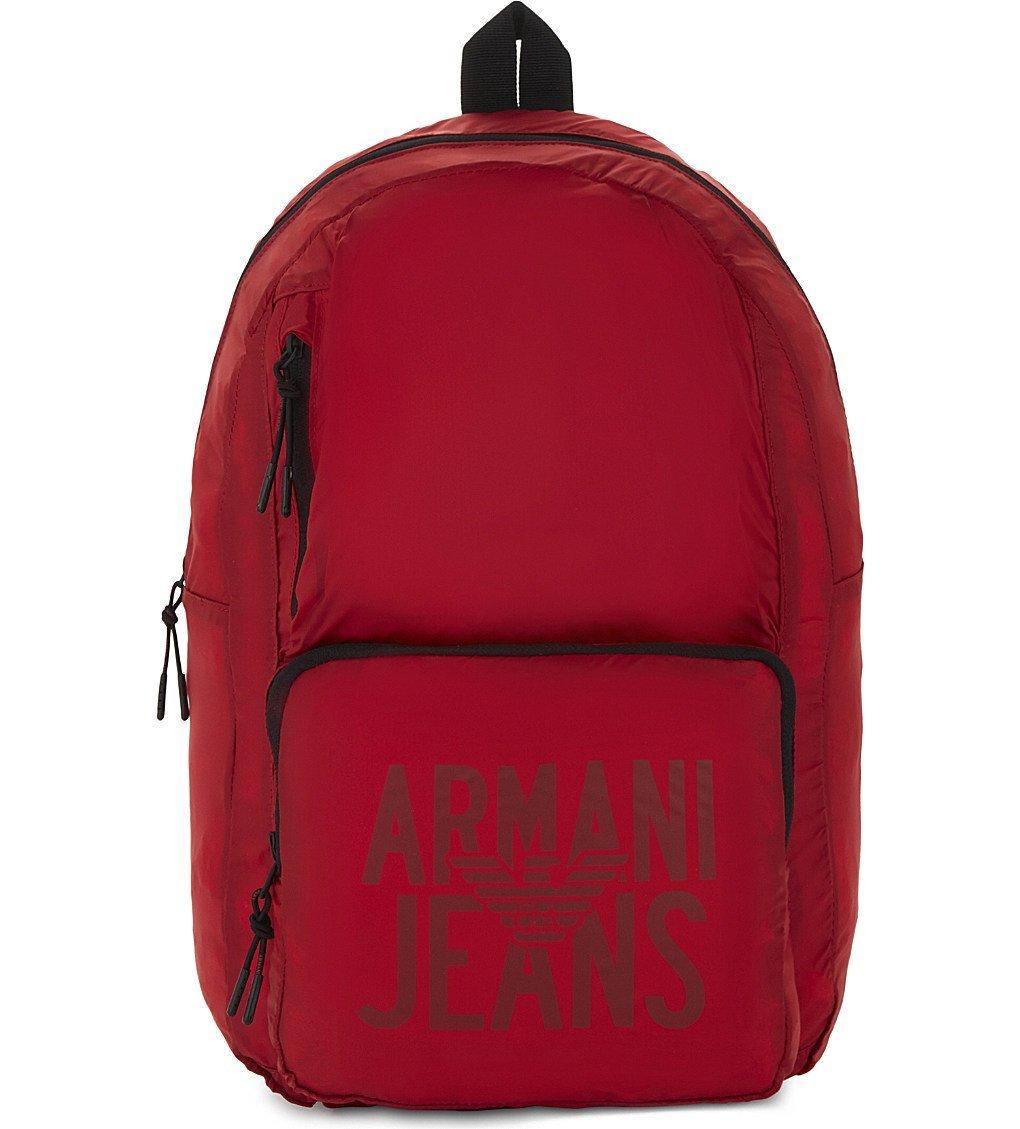 79eaf322473d ARMANI JEANS Packaway nylon backpack