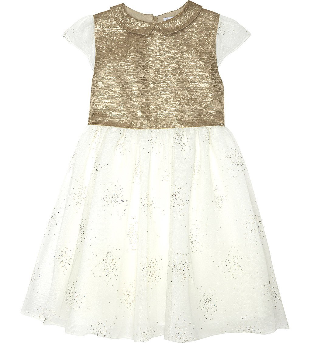 PATACHOU Embellished Metallic Dress 4-14 Years