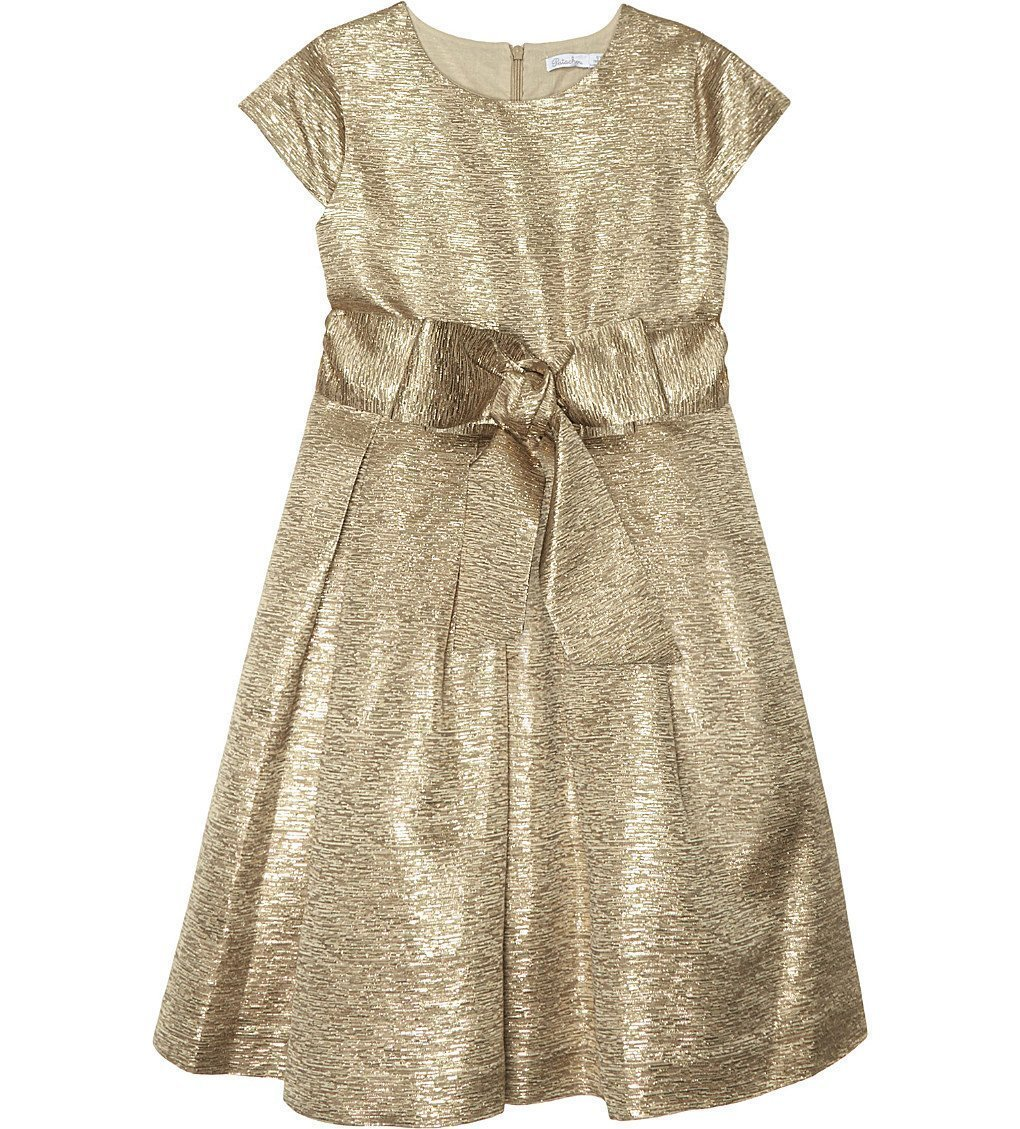 PATACHOU Metallic Bow Dress 4-14 Years