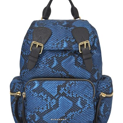 BURBERRY Python Print Nylon Backpack