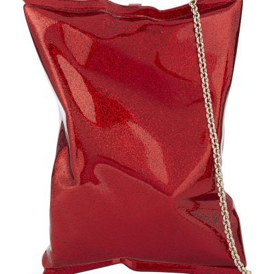 ANYA HINDMARCH Crisp Packet Glitter Clutch