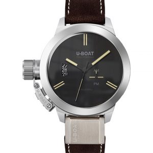 U-BOAT 8079 Classico Brown Leather Strap Watch