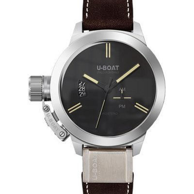 U-BOAT 8079 Classico Brown Leather Strap Watch