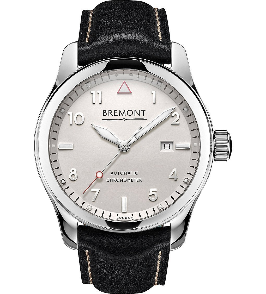 BREMONT SOLO-PW Stainless Steel And Calf Skin Leather Watch
