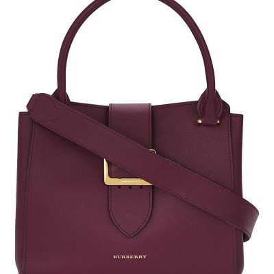 BURBERRY Buckle Medium Leather Tote