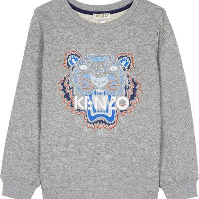 KENZO Tiger Head Cotton Sweatshirt 4-16 Years