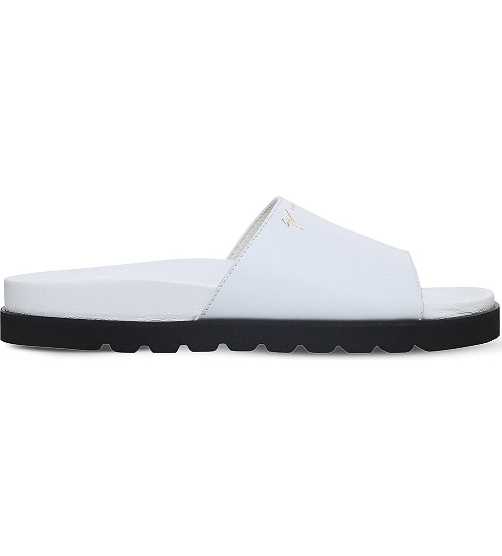 GIUSEPPE ZANOTTI Neil Leather Sliders
