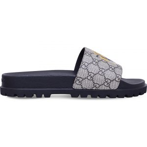 GUCCI Pursuit Tiger-print Canvas Slider Sandals