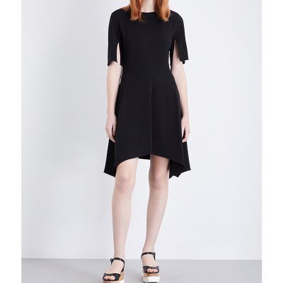 STELLA MCCARTNEY Asymmetric Stretch-crepe Dress