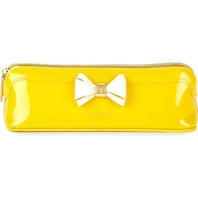 TED BAKER Curved Bow Patent Leather Large Pencil Case
