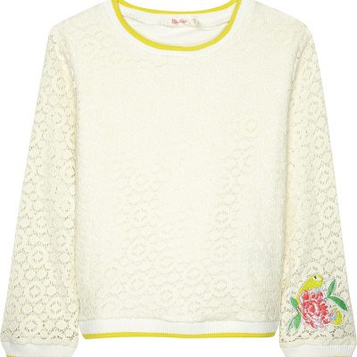 BILLIE BLUSH Embroidered Lace-effect Jumper 4-12 Years