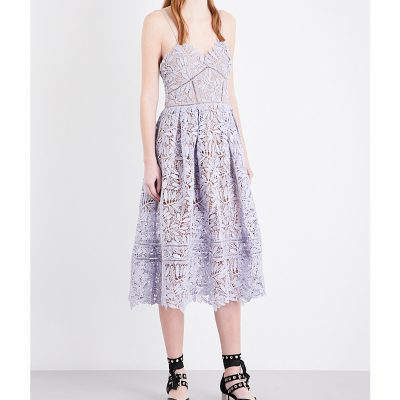 SELF-PORTRAIT Laelia Guipure-lace Midi Dress