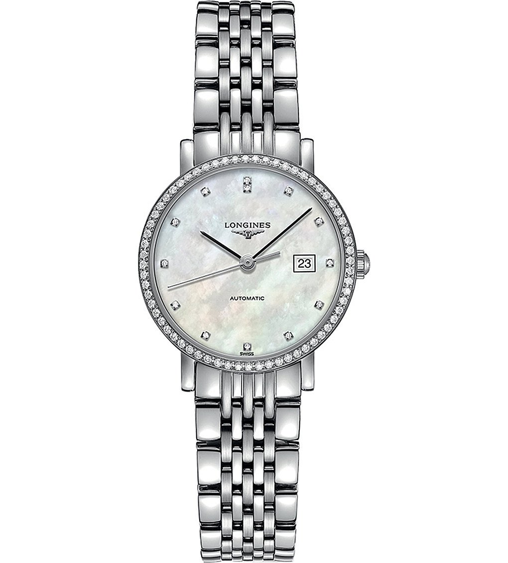 LONGINES L4.310.0.87.6 Elegant Collection Diamond And Stainless Steel Watch