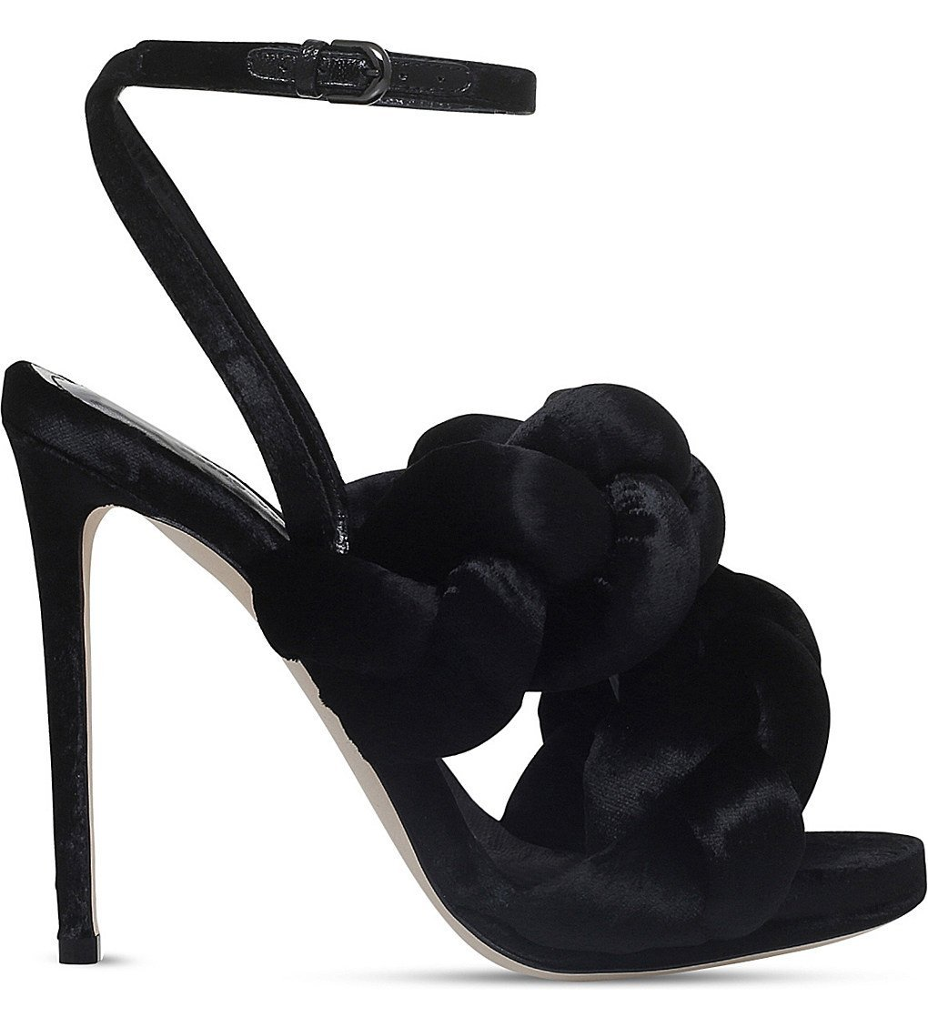MARCO DE VINCENZO Braided Velvet High Heeled-sandals