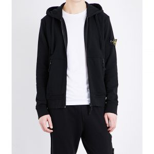 STONE ISLAND Patch-detail Cotton-jersey Hoody