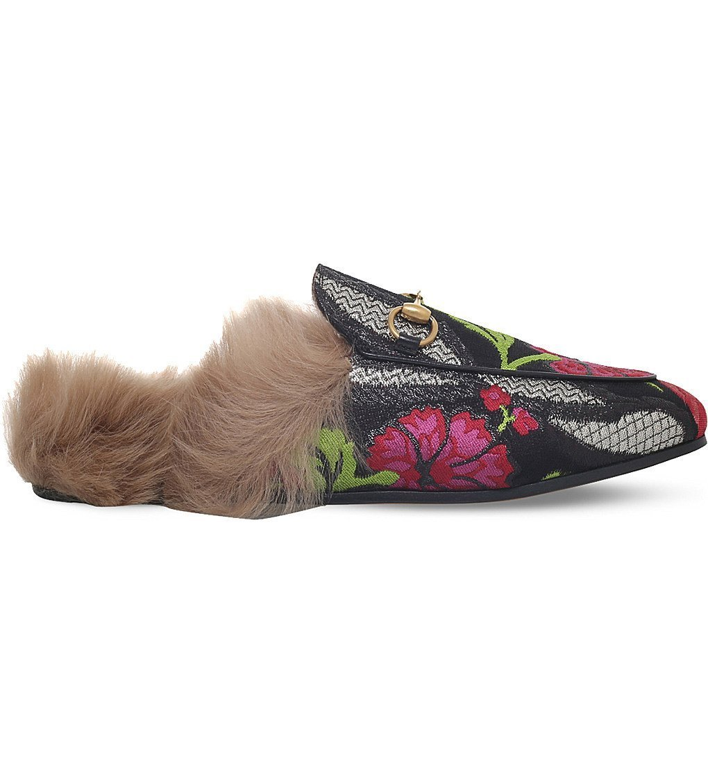 3c5abcfb1ed1e GUCCI Princetown floral brocade wool slipper