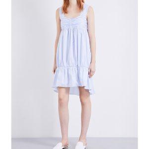VICTORIA VICTORIA BECKHAM Cotton-poplin Dress