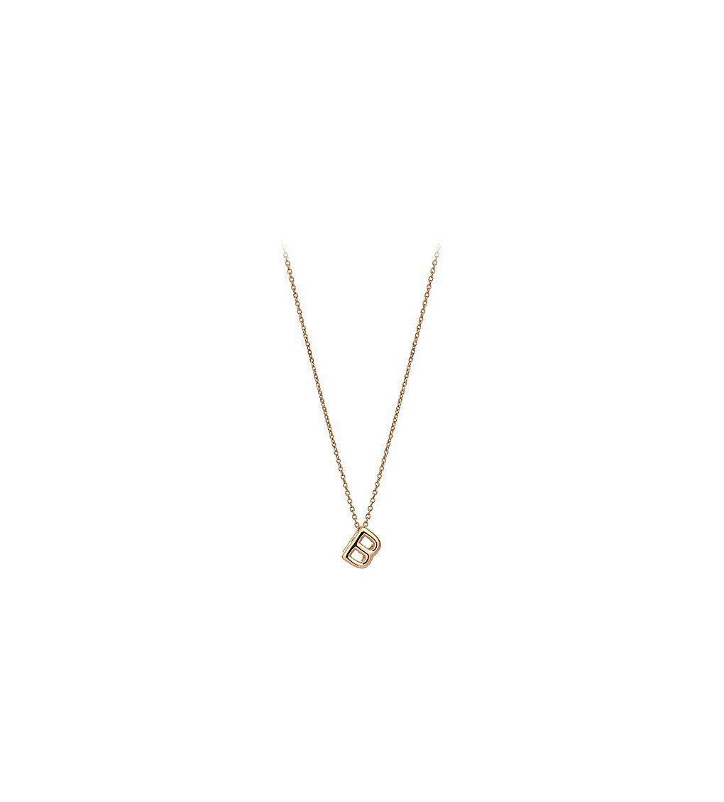 THE ALKEMISTRY Kismet By Milka 14ct Rose-gold Initial B Necklace