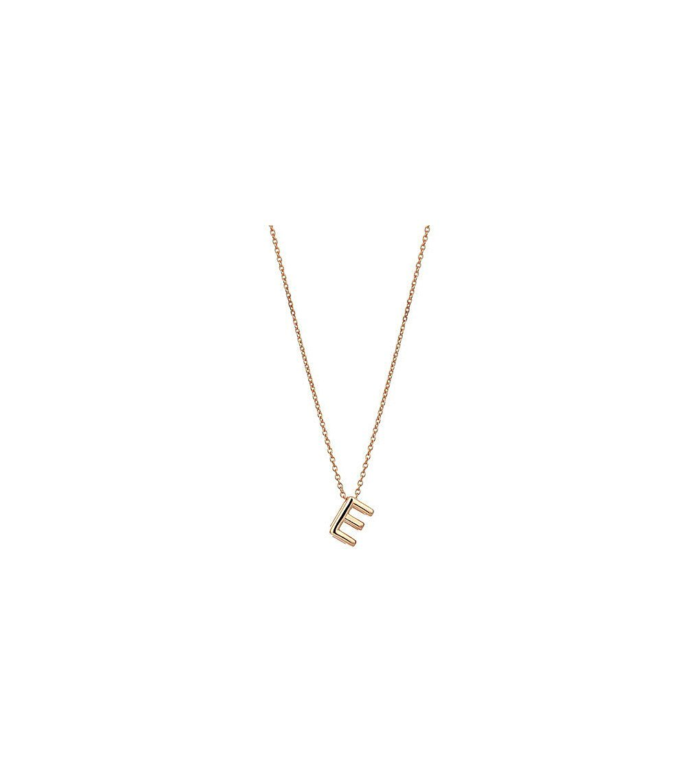 THE ALKEMISTRY Kismet By Milka 14ct Rose-gold Initial E Necklace