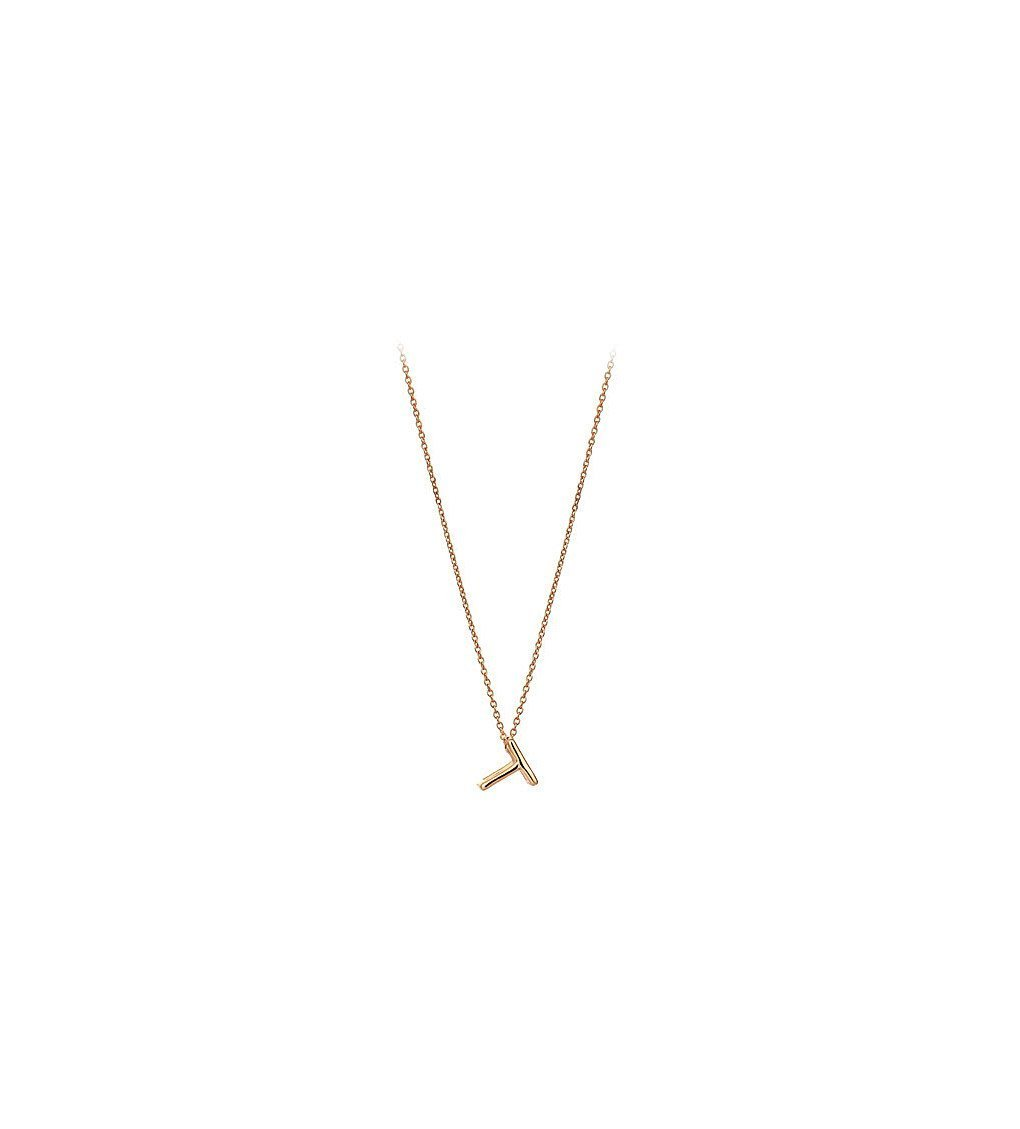 THE ALKEMISTRY Kismet By Milka 14ct Rose-gold Initial T Necklace