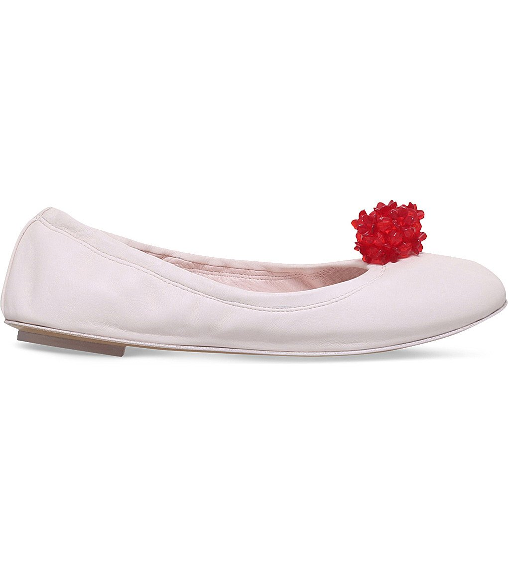 SIMONE ROCHA Cluster Leather Ballerina Flats