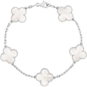 VAN CLEEF & ARPELS Vintage Alhambra Gold And Mother-of-pearl Bracelet