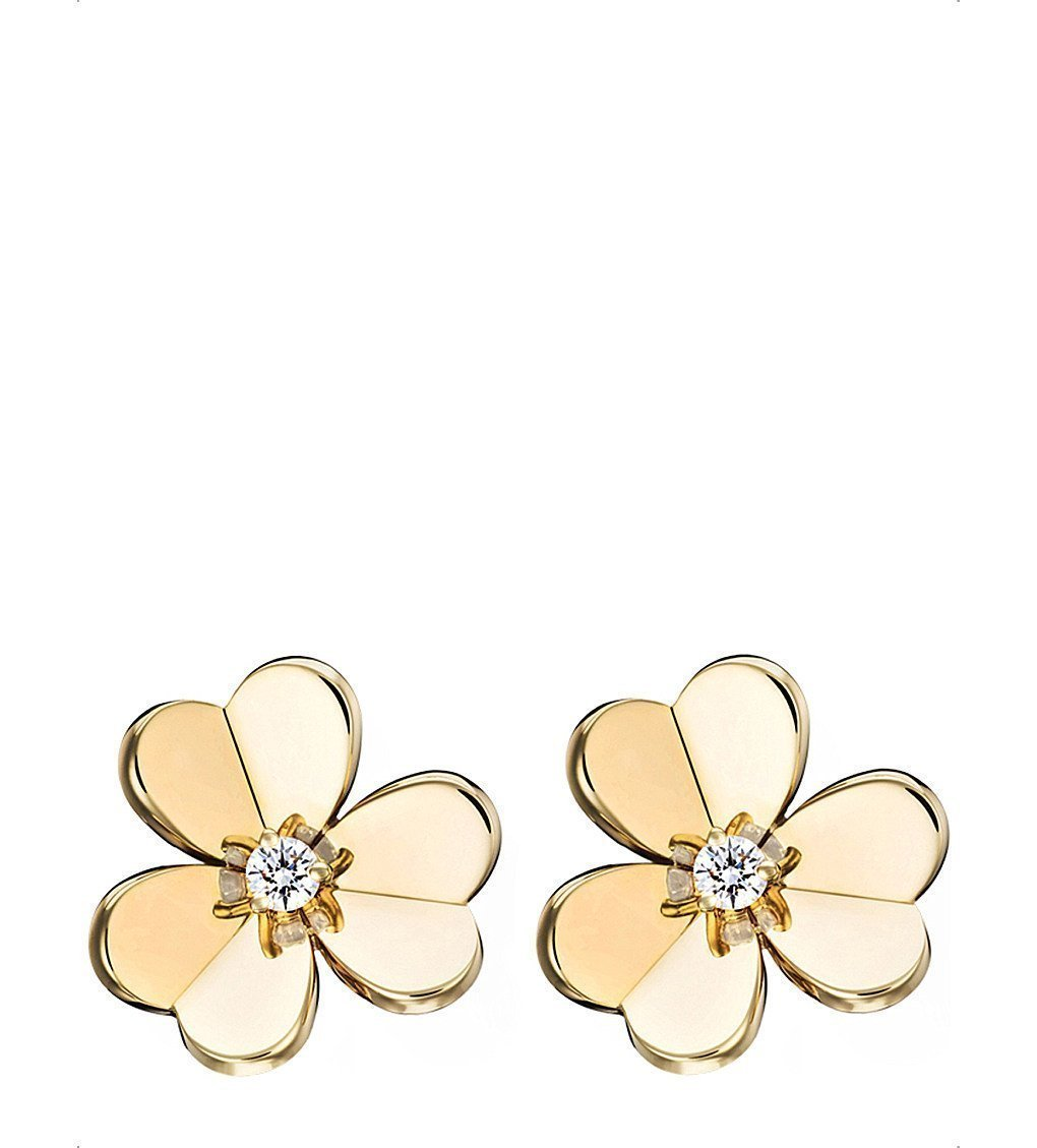 VAN CLEEF & ARPELS Frivole Gold And Diamond Small Earrings