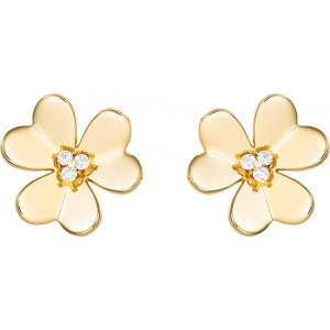 VAN CLEEF & ARPELS Frivole Gold And Diamond Large Earrings