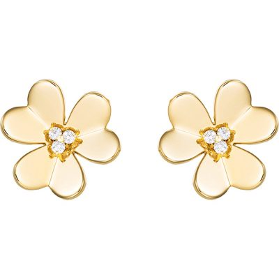 VAN CLEEF & ARPELS Frivole Gold And Diamond Large Earrings